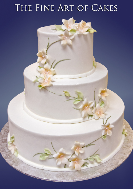 Floral Fondant Accents The Fine Art of Cakes